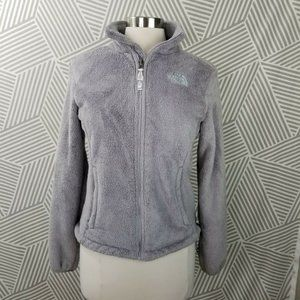The North Face Womens Gray Full Zip Fleece Jacket